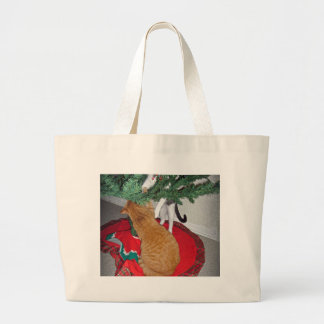 12 Cats a-Climbing Large Tote Bag