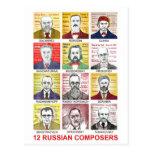 12 compositores rusos postal