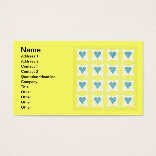 12__couple-set-paper3 PASTEL YELLOW BLUE WHITE FLO Business Card
