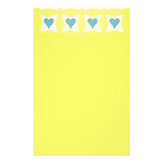 12__couple-set-paper3 PASTEL YELLOW BLUE WHITE FLO Stationery
