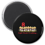 12 days eight maids a-milking 2 inch round magnet