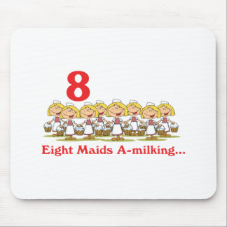12 days eight maids a-milking mouse pad