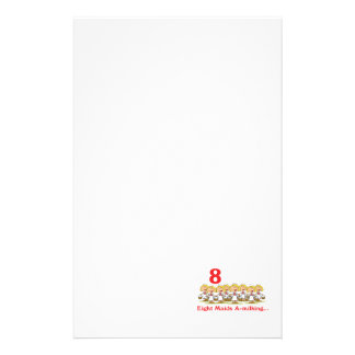 12 days eight maids a-milking stationery
