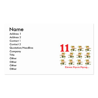 12 days eleven pipers piping Double-Sided standard business cards (Pack of 100)