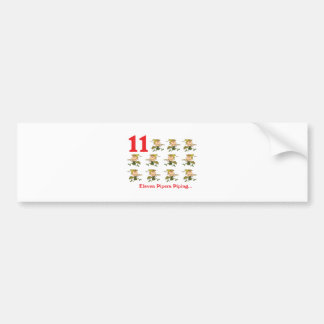 12 days eleven pipers piping car bumper sticker