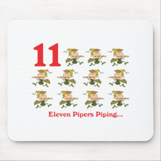12 days eleven pipers piping mouse pad