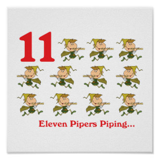 12 days eleven pipers piping poster