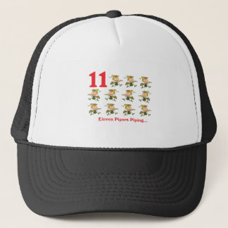 12 days eleven pipers piping trucker hat