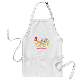 12 days five gold rings adult apron