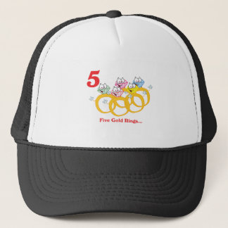 12 days five gold rings trucker hat