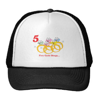 12 days five gold rings trucker hats