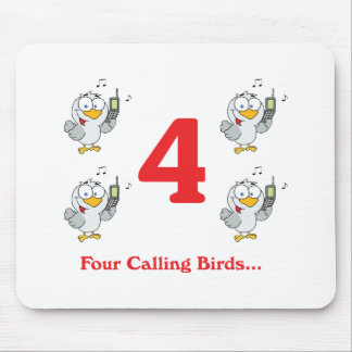 12 days four calling birds mouse pad