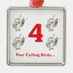 12 days four calling birds ornament