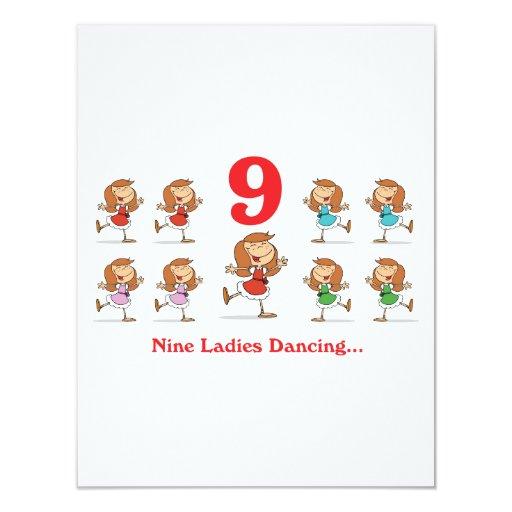 12 days nine ladies dancing announcement