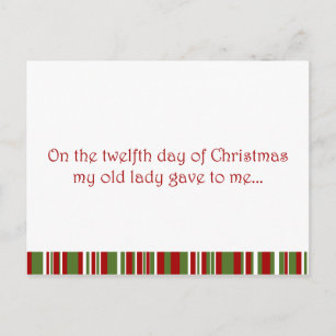 12 days of a redneck christmas holiday postcard - 12 Redneck Days Of Christmas