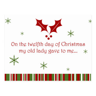 12 Days of a Redneck Christmas Postcard