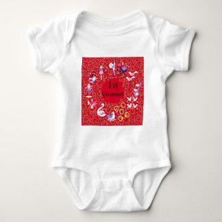 12 days of Christmas 'Baby's 1st Christmas' Baby Bodysuit
