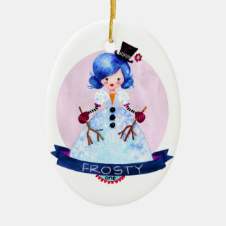 12 Days of Christmas Belles- 1 Frosty Ceramic Ornament
