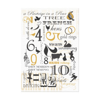 12 Days of Christmas Canvas Print