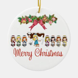 12 Days of Christmas Ceramic Ornament