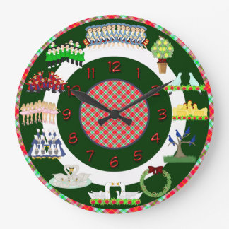 12 days of christmas clock green and white