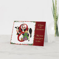 12 Days of Christmas Eight Maids A Milking Holiday Card