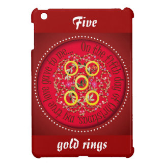 12 Days of Christmas FIve gold rings iPad Mini Case