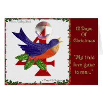 12 Days of Christmas Four Calling Birds Card