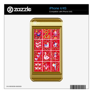 12 days of Christmas Iphone4 Decals For The iPhone 4