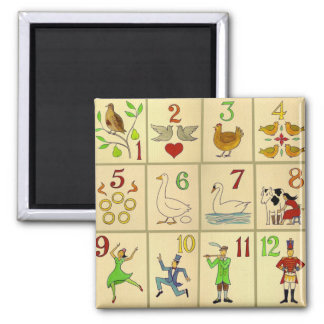 12 Days of Christmas Magnet
