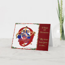 12 Days of Christmas Nine Ladies Dancing Holiday Card