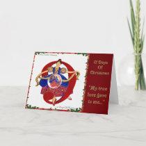 12 Days of Christmas Nine Ladies Dancing Holiday Card