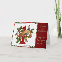 12 Days of Christmas Partridge in a Pear Tree Holiday Card