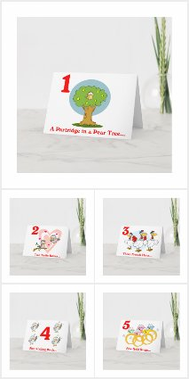 12 days of Christmas Personalized Christmas Cards