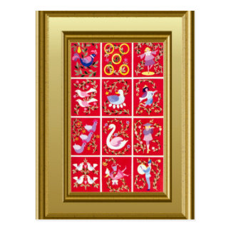 12 days of Christmas Post Cards