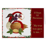 12 Days of Christmas Six Geese A Laying Greeting Card