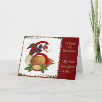 12 Days of Christmas Six Geese A Laying Holiday Card
