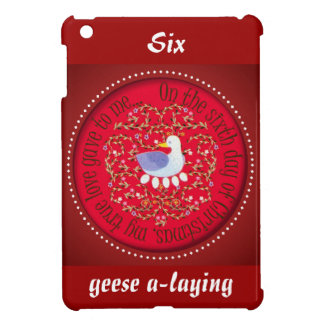 12 Days of Christmas Six geese a-laying iPad Mini Covers