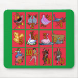 12 Days of Christmas T-shirts, Apparel, Gifts Mouse Pad