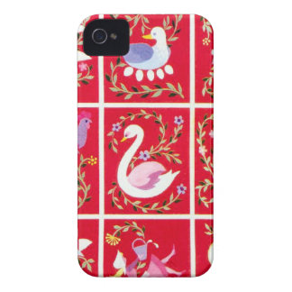 12 Days of Christmas, the traditional carol iPhone 4 Case