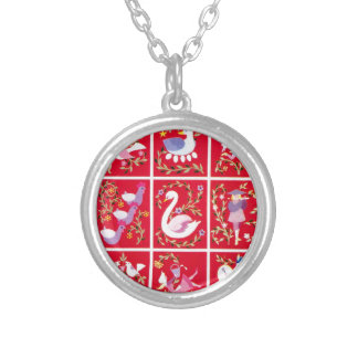 12 Days of Christmas, the traditional carol Silver Plated Necklace