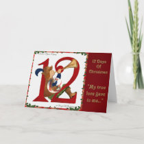 12 Days of Christmas Twelve Pipers Piping Holiday Card
