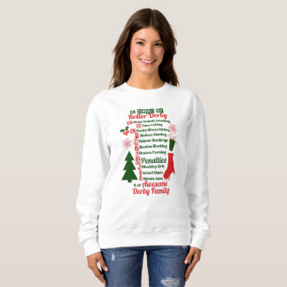 12 Days of Roller Derby Christmas, Roller Skating Sweatshirt