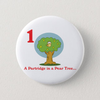 12 days partridge in a pear tree button