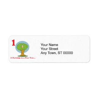 12 days partridge in a pear tree custom return address labels