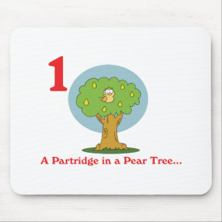 12 days partridge in a pear tree mouse pad
