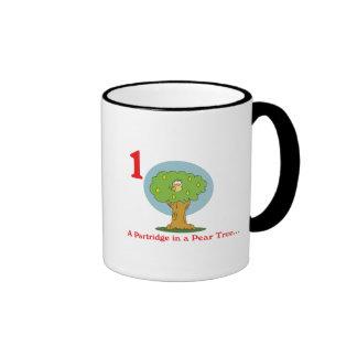 12 days partridge in a pear tree ringer coffee mug