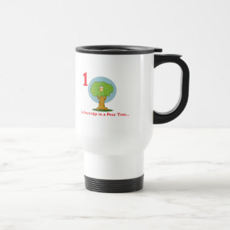12 days partridge in a pear tree 15 oz stainless steel travel mug