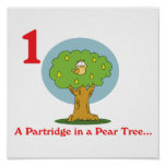 12 days partridge in a pear tree posters