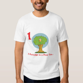 12 days partridge in a pear tree tee shirt